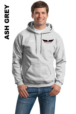 Gildan 18500  Adult Pullover Hoodie Pocket Embroidery with Personalize Name