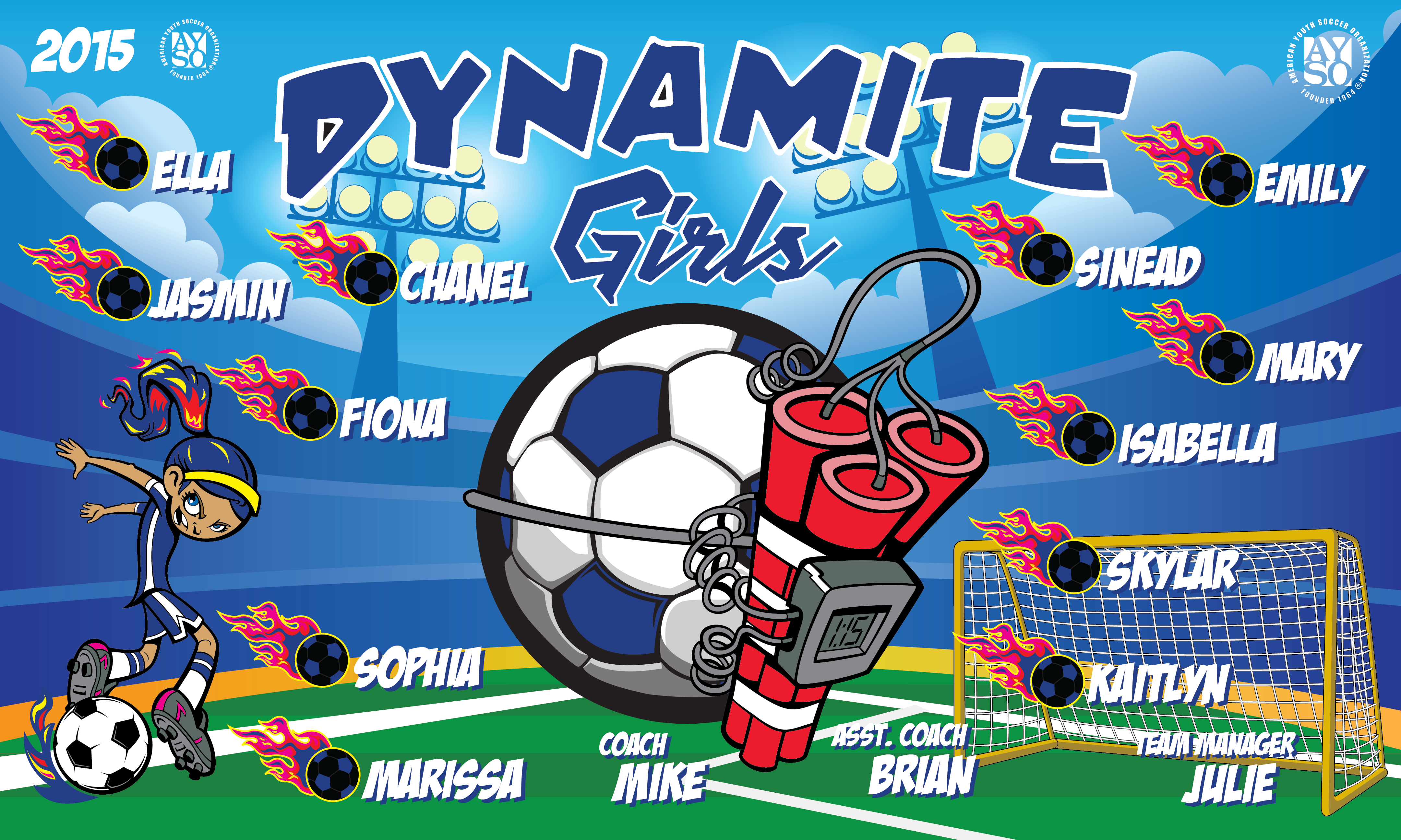 B1683 The Dynamite Girls 3x5 Banner