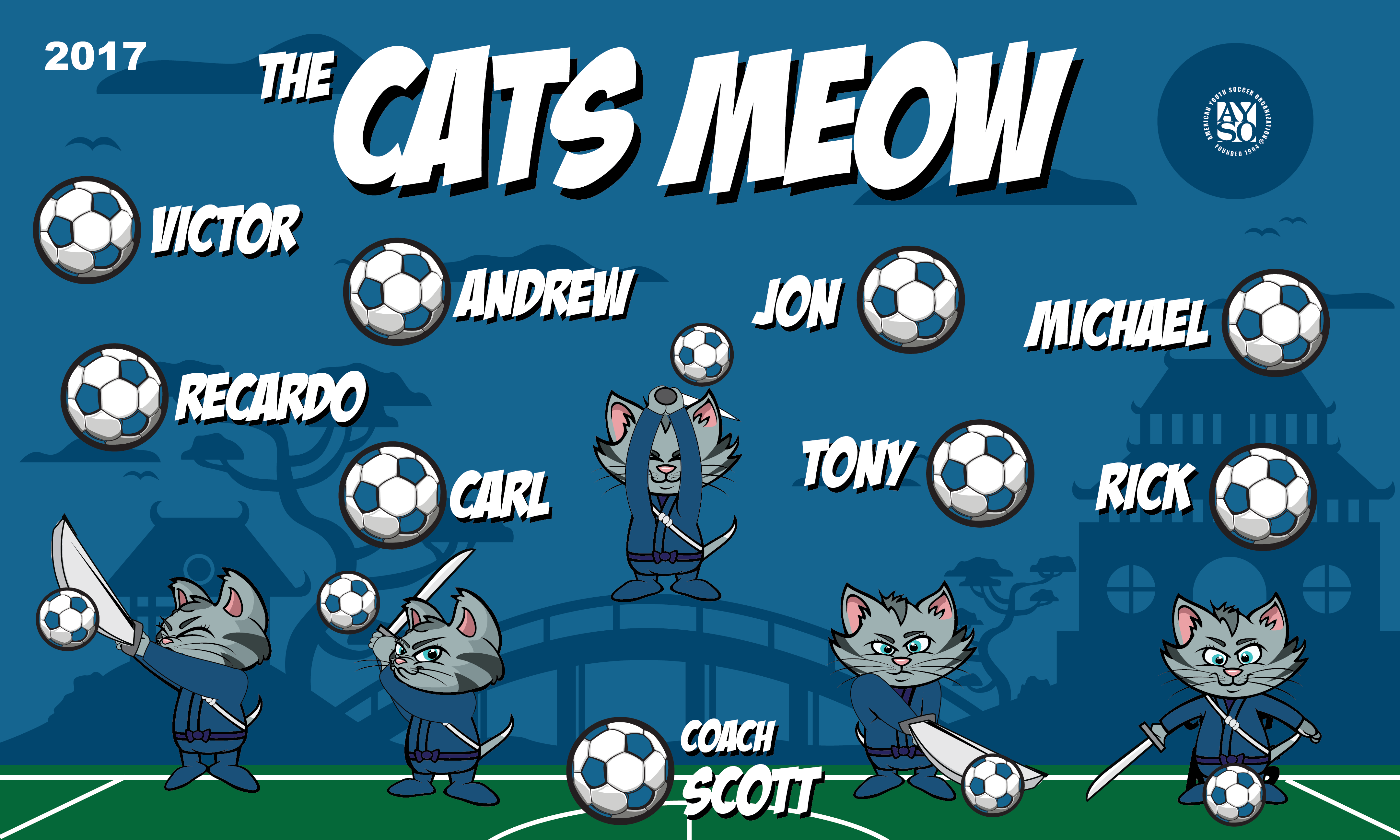 B1740 Cats Meow 3x5 Banner