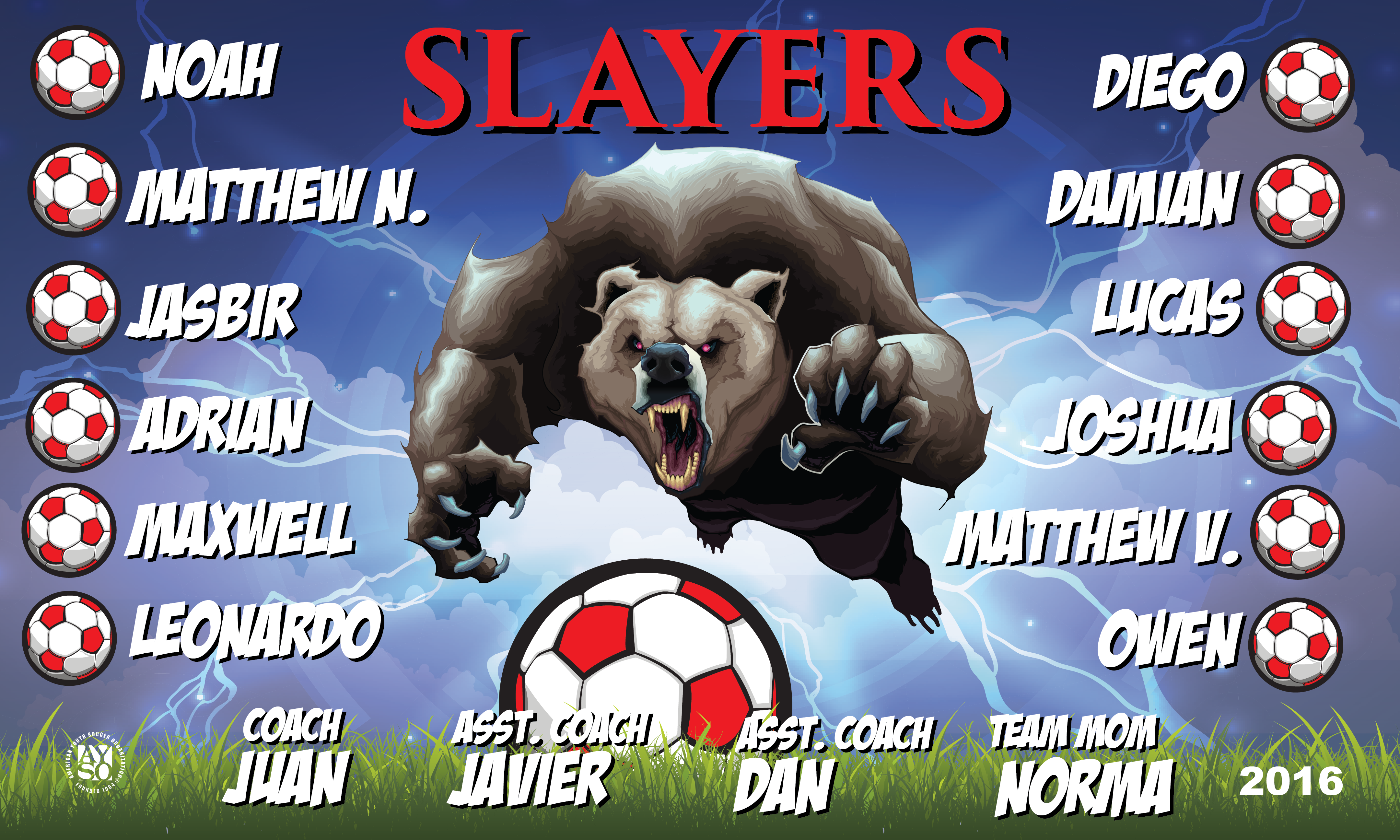 B1881 Slayers Bears 3x5 Banner