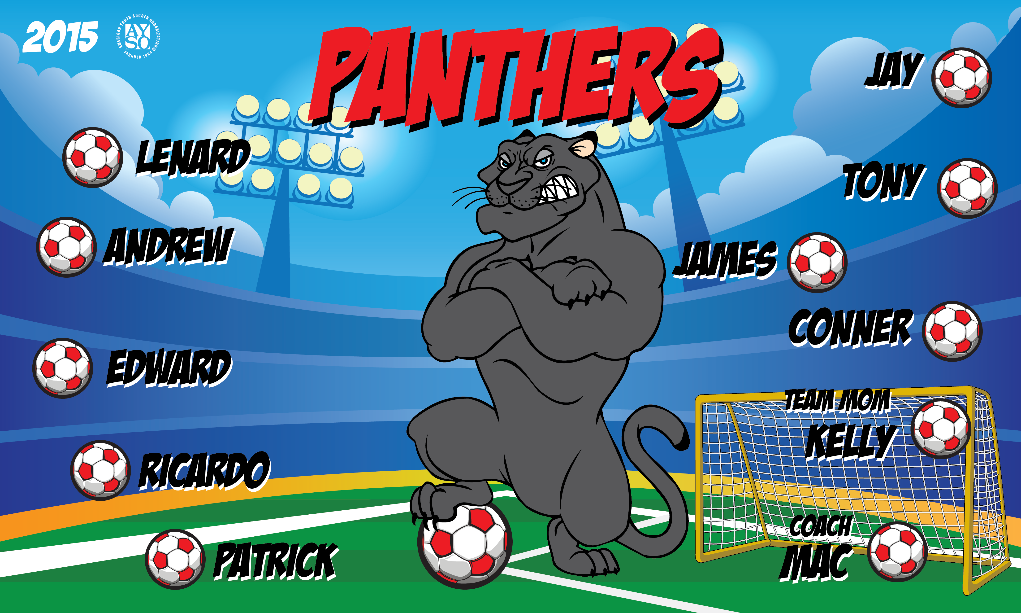B1989 Panthers 3x5 Banner