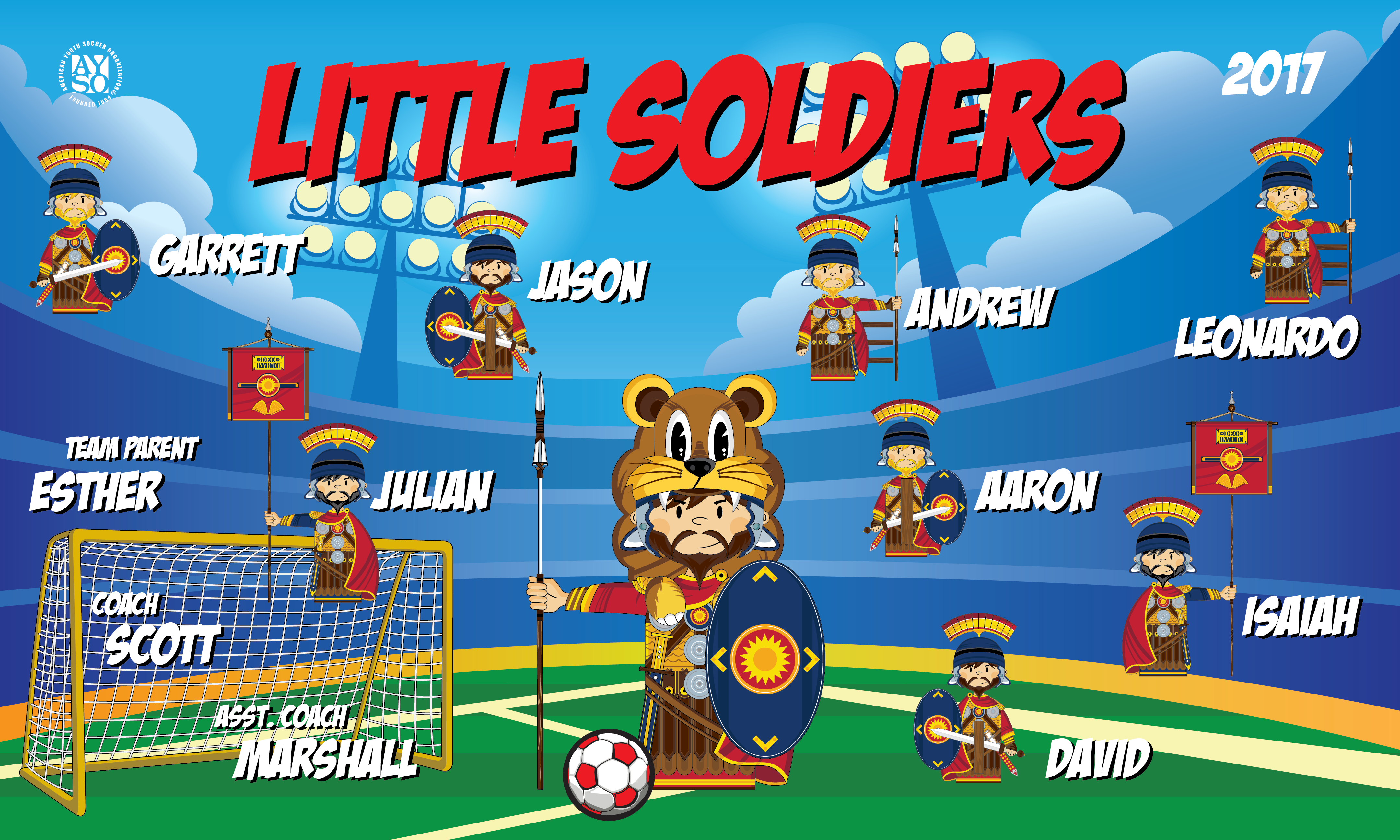 B2158 Little Soldiers 3x5 Banner