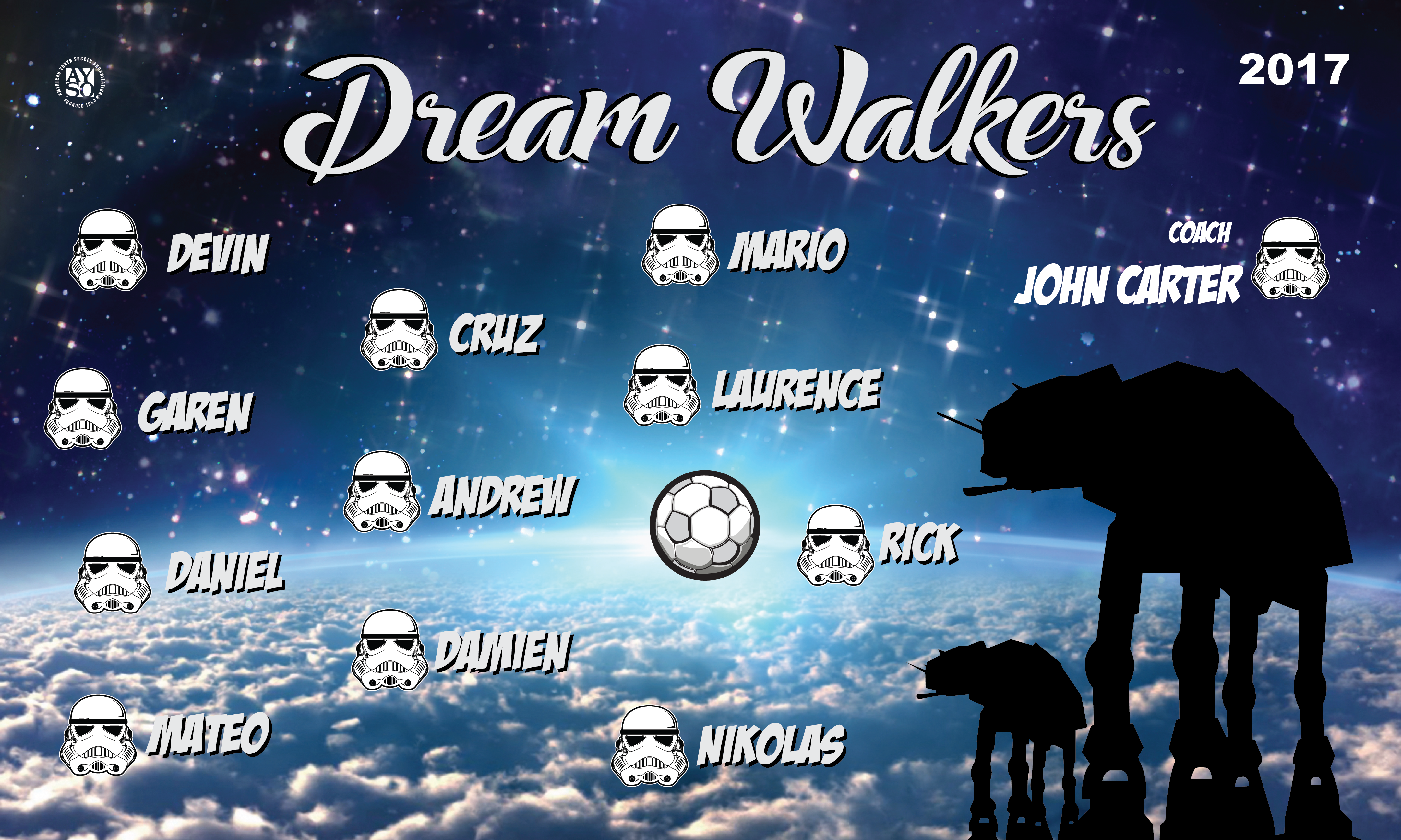 B2164 Dream Walkers 3x5 Banner