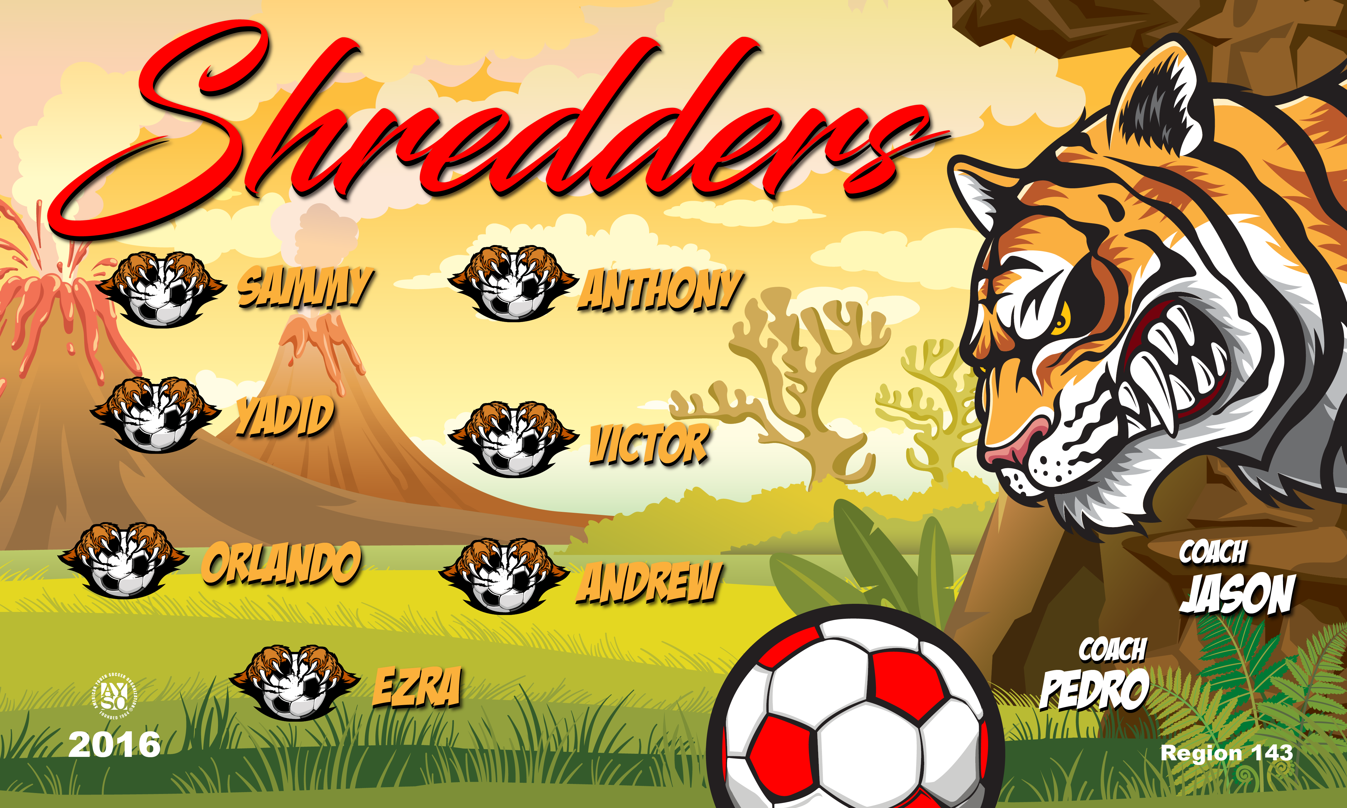 B2284 The Shredders 3x5 Banner