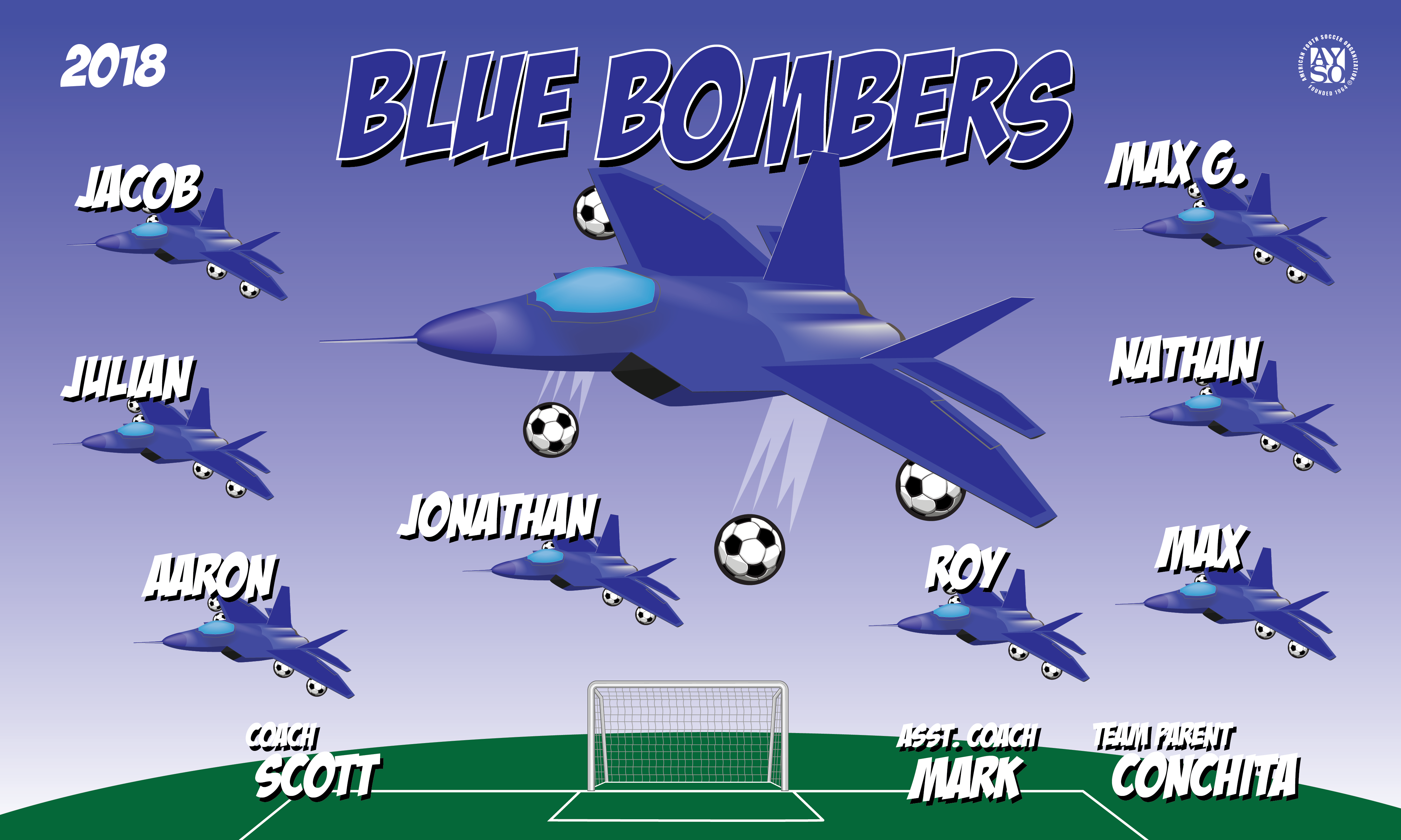 B2355 Blue Bombers 3x5 Banner