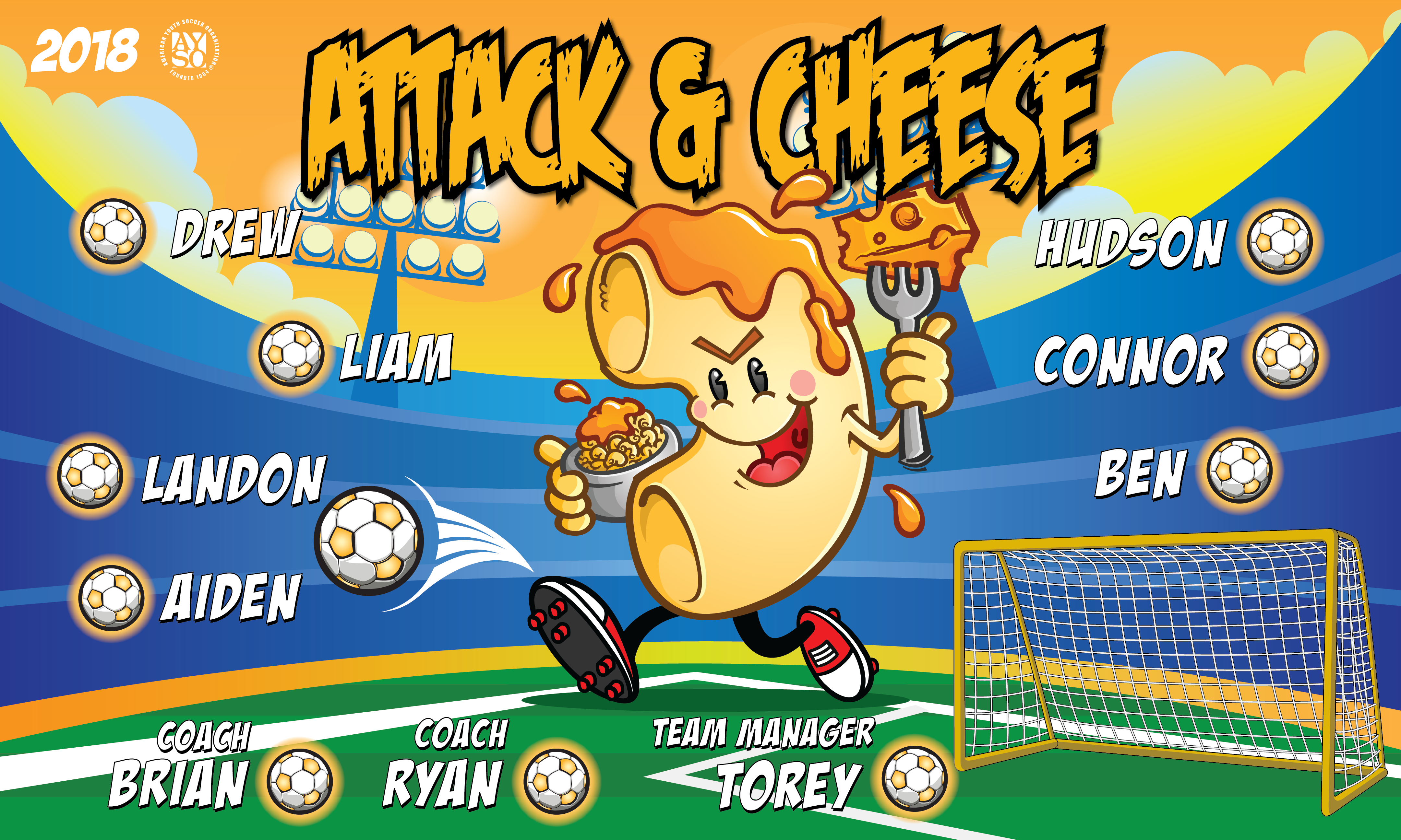B2370 Attack & Cheese 3x5 Banner