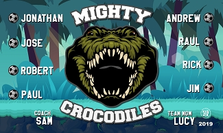 B2500 Mighty Crocodiles 3x5 Banner
