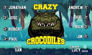 B2501 Crazy Crocodiles 3x5 Banner