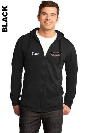 District DT800 Adult Zip-Hoodie Pocket Logo with Embroidered Name (Tax Included)