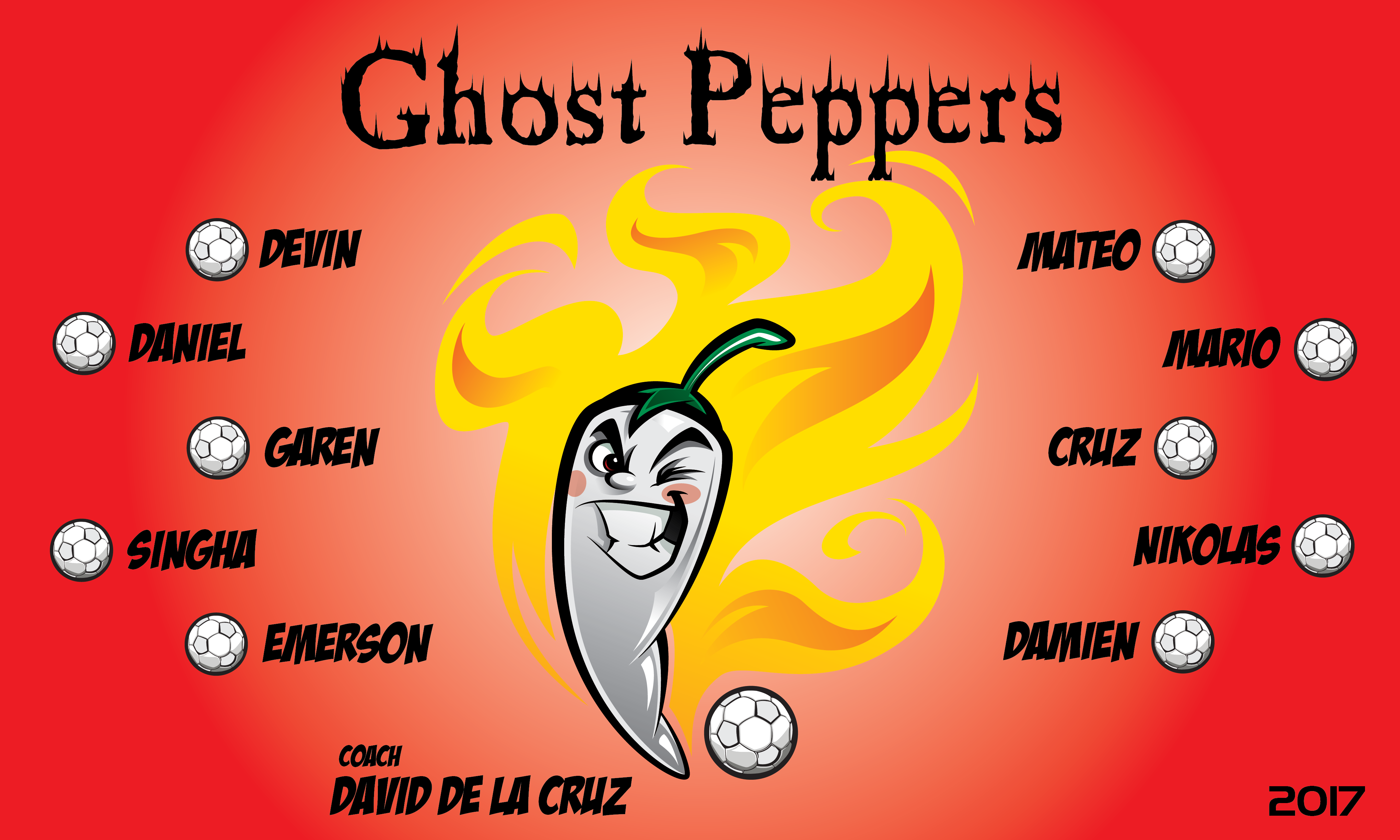 B2132 Ghost Peppers 3x5 Banner