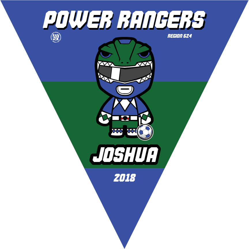 P1019 Power Rangers Triangle Pennants