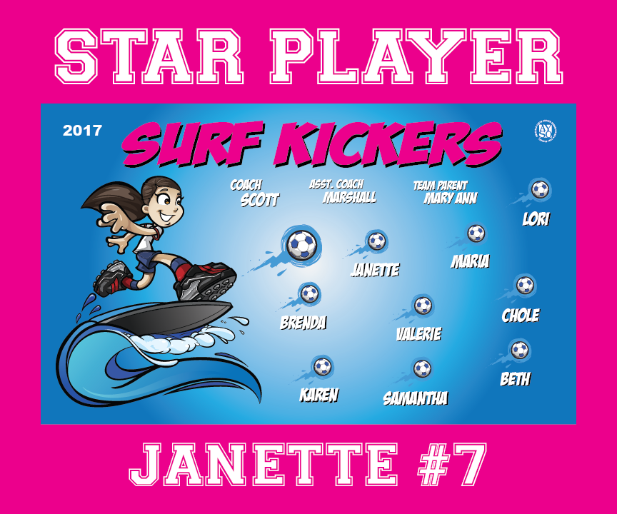 P1031 Surf Kickers Mini Banner