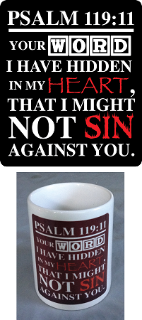Psalm 119-11 Coffee Mug
