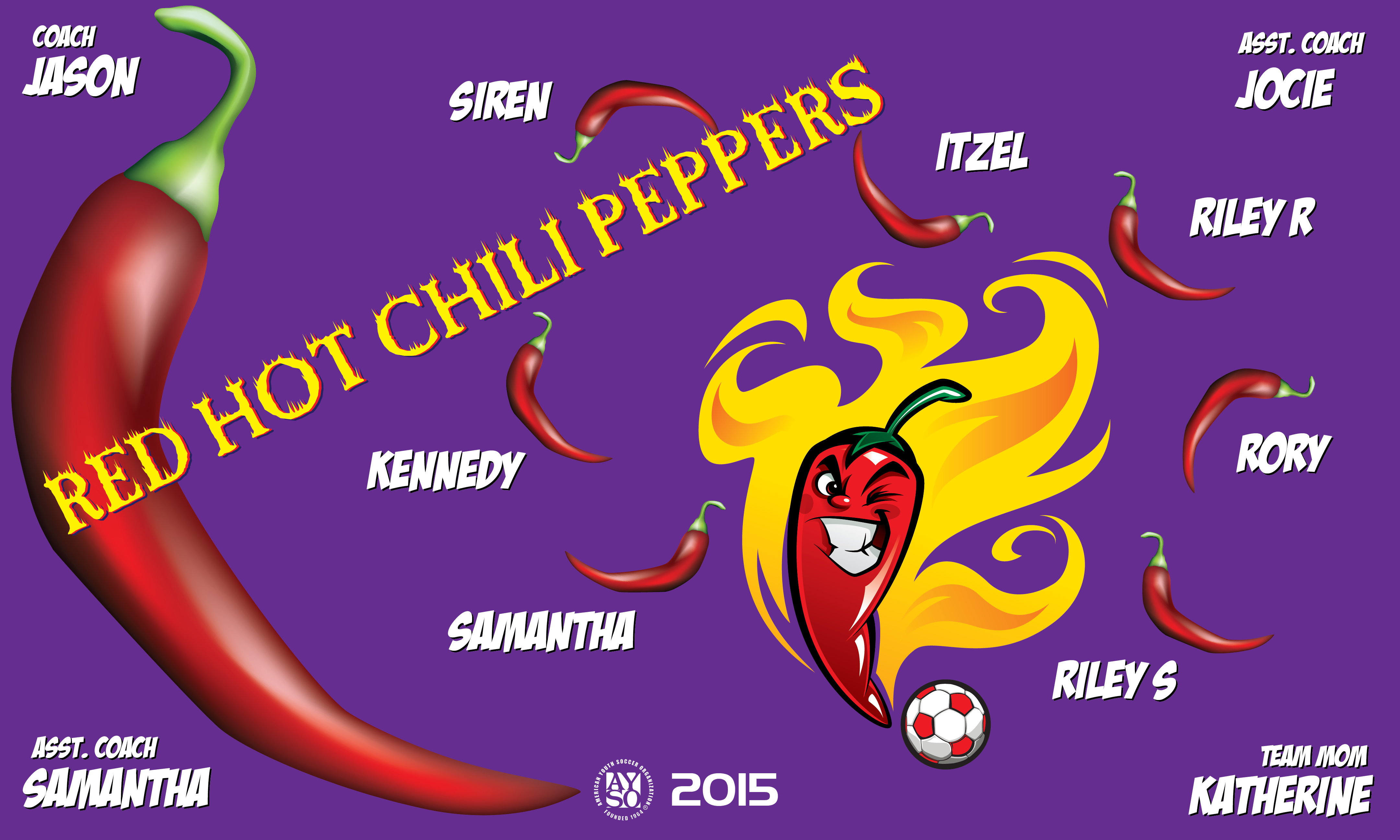 B1615 Red Hot Chili Peppers 3x5 Banner