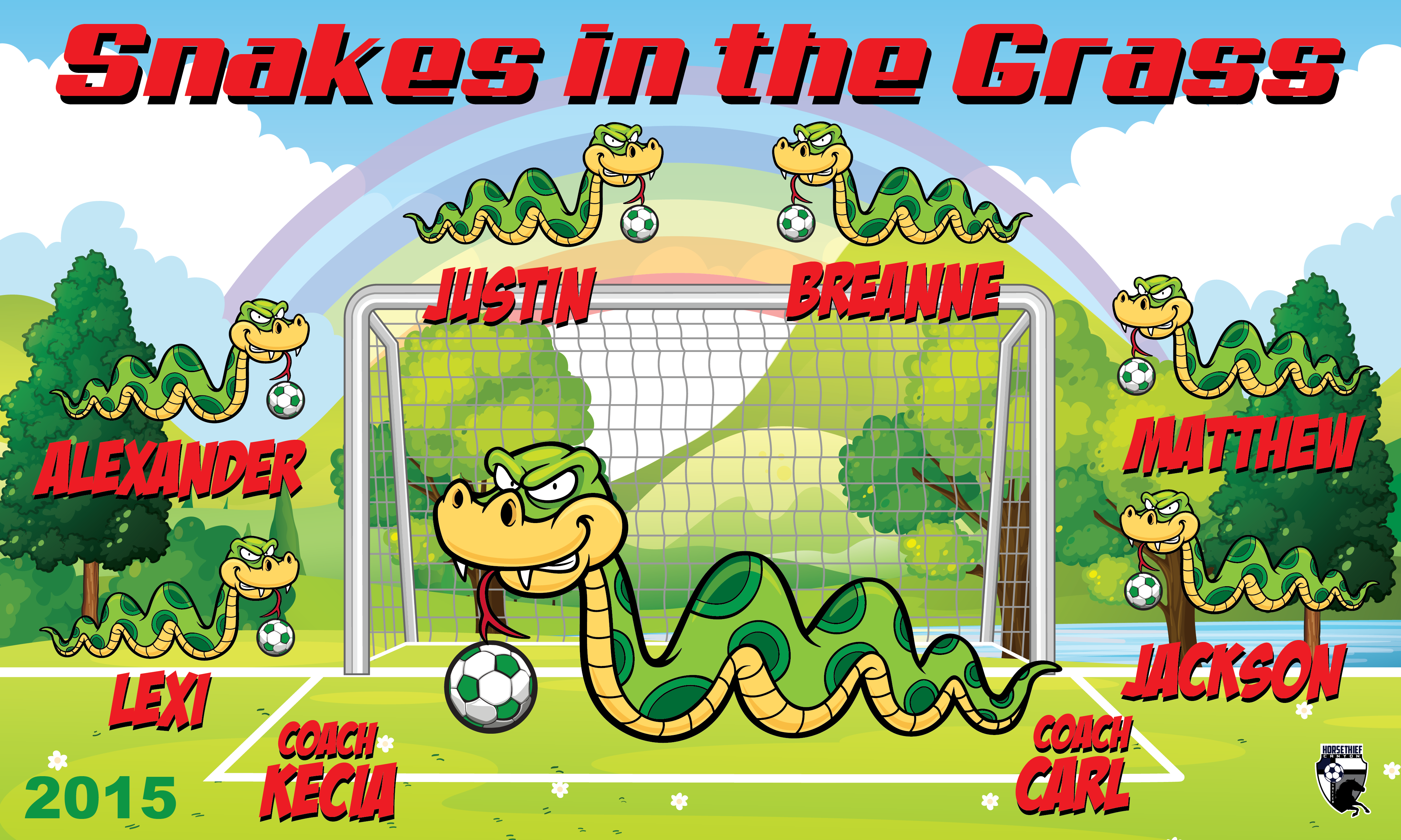 B1613 Snakes in the Grass 3x5 Banner