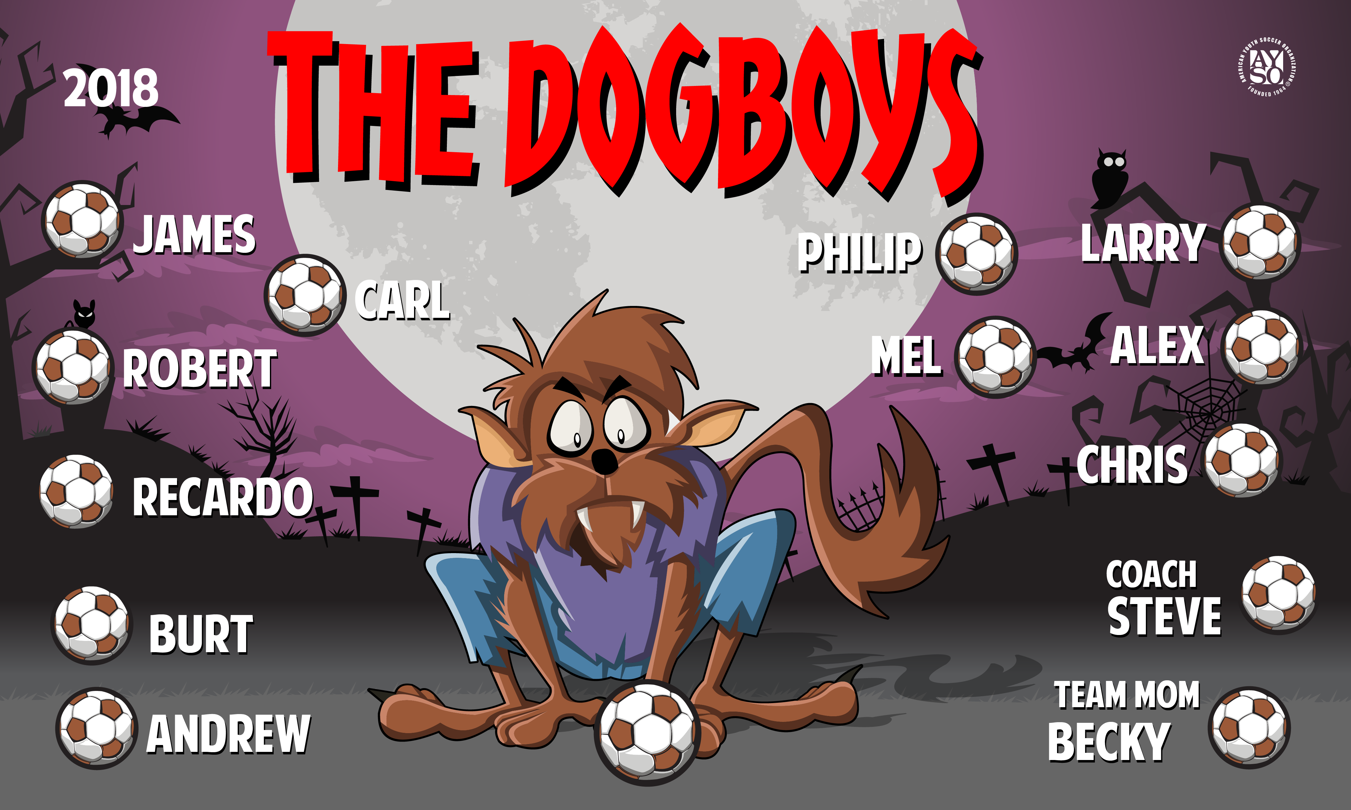 B1634 The Dogboys 3x5 Banner