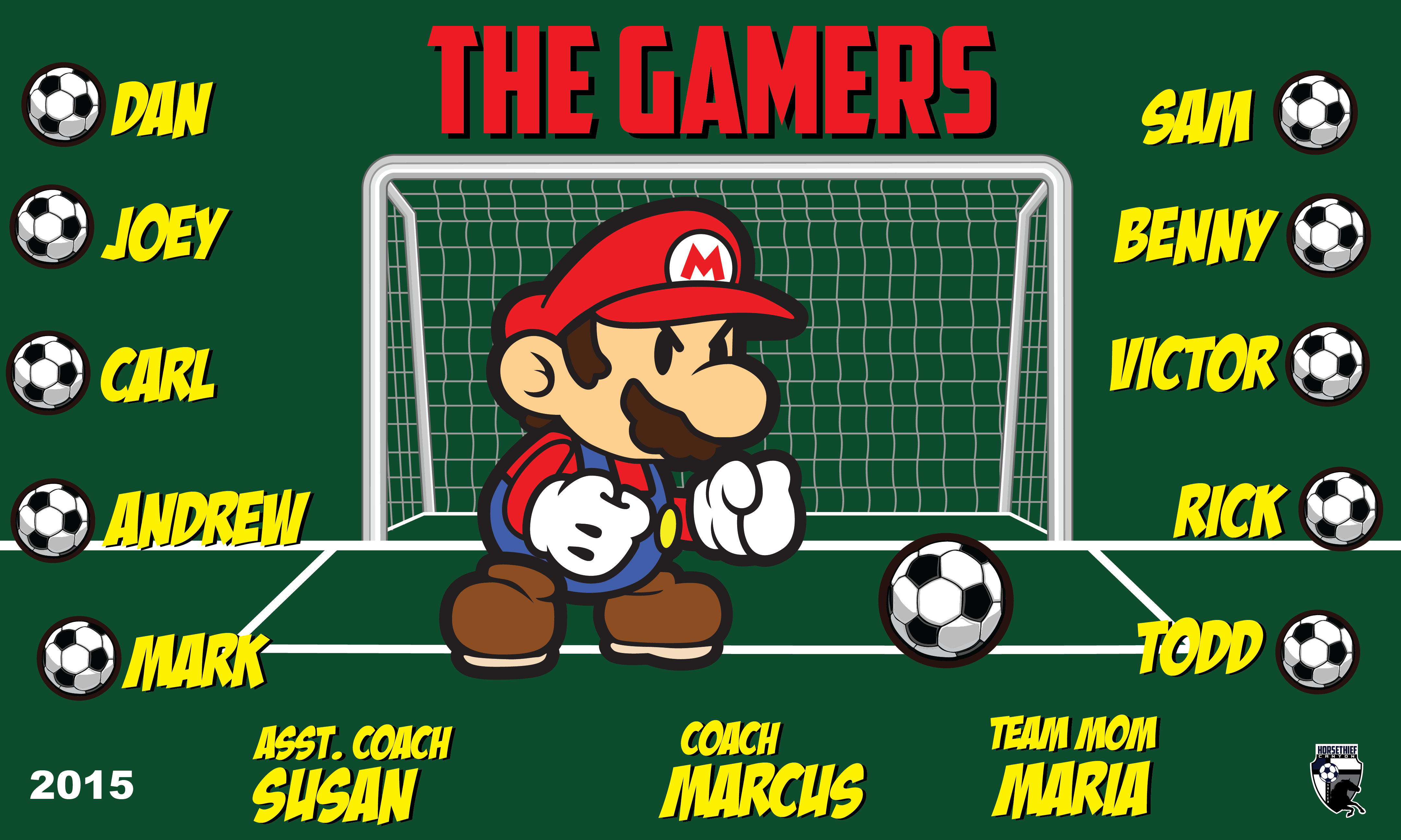 B1606 The Gamers 3x5 Banner