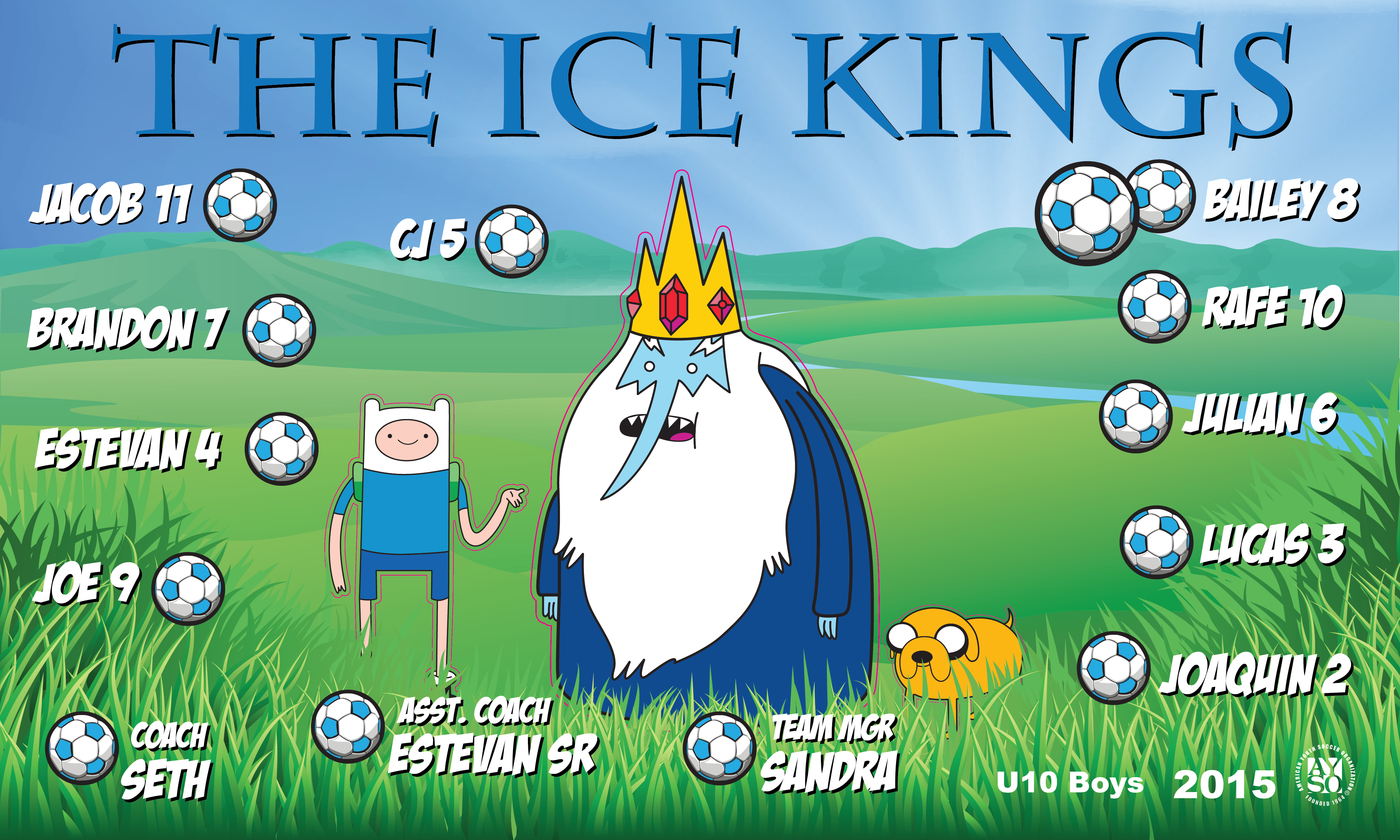 B1601 The Ice Kings 3x5 Banner