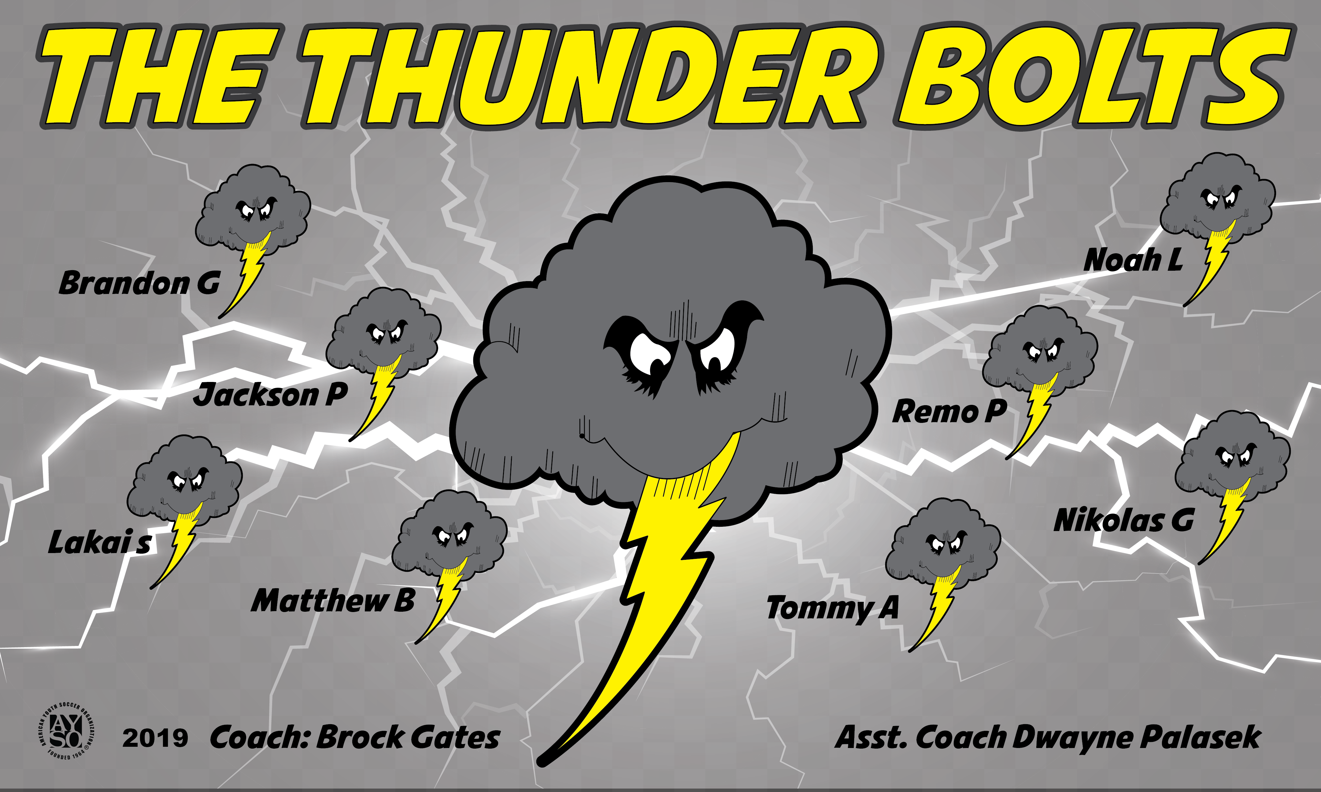 B2611 The Thunder Bolts 3X5 Banner