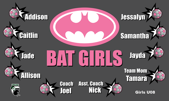B1010 Bat Girls 3x5 Banner