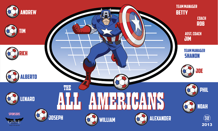 B1030 All Americans 3x5 Banner
