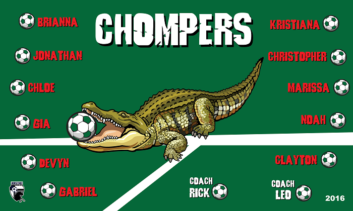 B1520 Chompers 3x5 Banner
