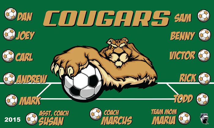 B1469 Cougars 3x5 Banner