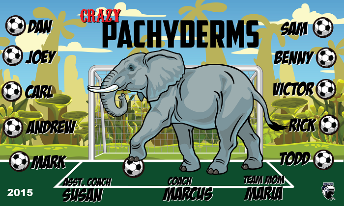 B1517 Crazy Pachyderms 3x5 Banner
