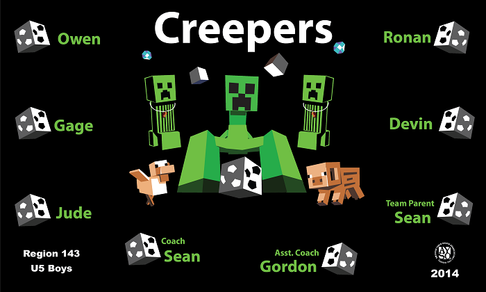 B1041 Creepers 3x5 Banner