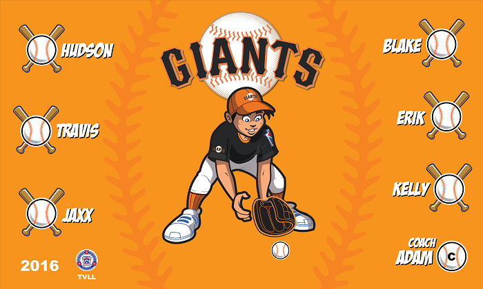 B1425 Giants Baseball 3x5 Banner 3