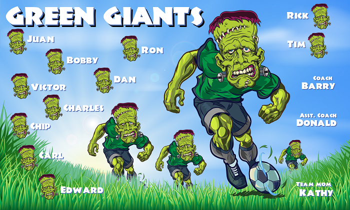 B1472 Green Giants Team 3x5 Banner