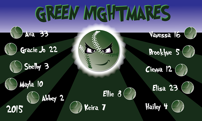 B1293 Green Nightmares 3x5 Banner