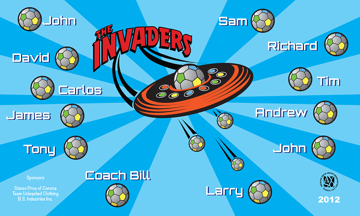 B1098 Invaders 3x5 Banner
