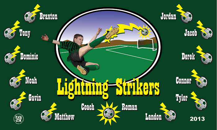 B1183 Strikers 3x5 Banner