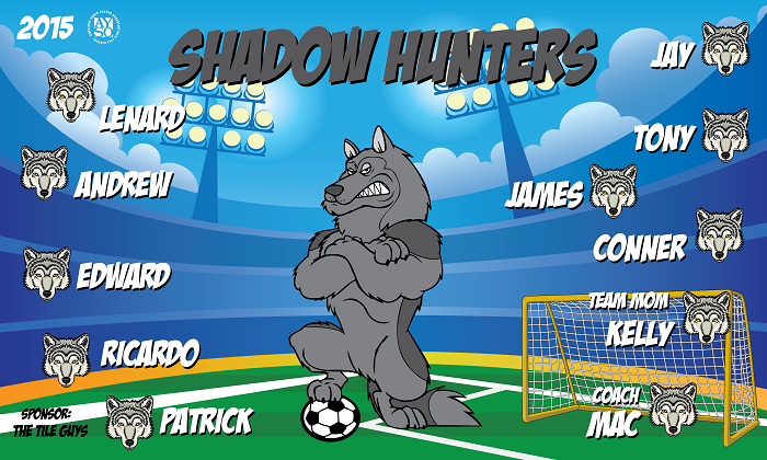 B1372 Shadow Hunters 3x5 Banner