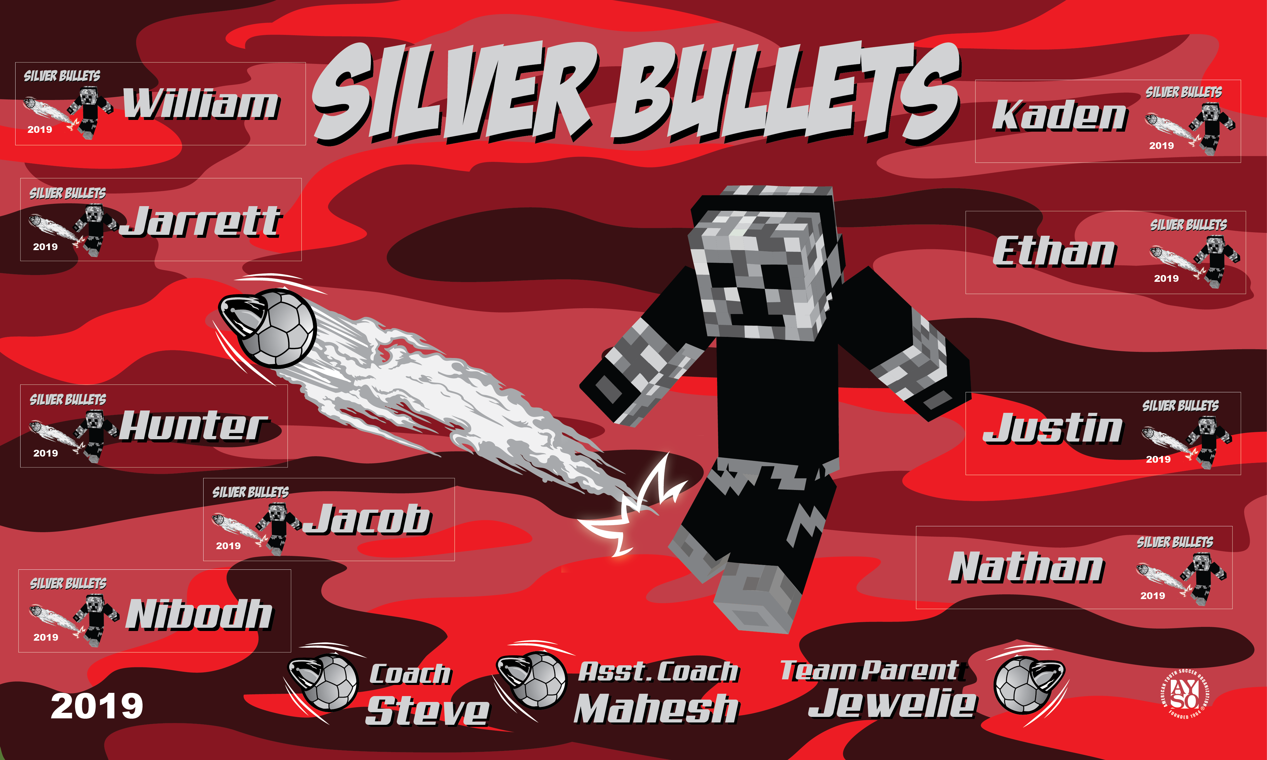 B2567 Silver Bullets 3X5 Banner