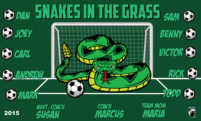 B1514 Snakes in the Grass 3x5 Banner