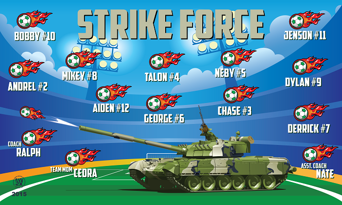 B1332 Strike Force 3x5 Banner