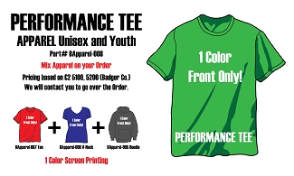 1 Color Front only Performance Tees BApparel-008