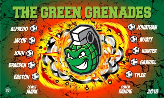 B2401 The Green Grenades 3x5 Banner