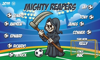 B2429 Mighty Reapers 3x5 Banner