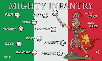 B1759 Italy Mighty infantry 3x5 Banner