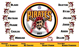 B1899 Pirates Baseball 3x5 Banner