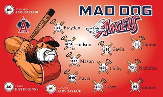 B1902 Mad Dog Angels 3x5 Banner
