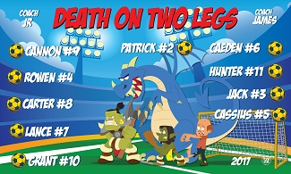 B1943 Death on Two legs 3x5 Banner