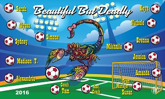 B1970 Beautiful But Deadly 3x5 Banner
