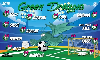 B1995 Green Dragons 3x5 Banner