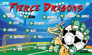 B2007 Fierce Dragons 3x5 Banner