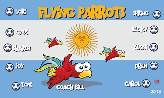 B2224 Argentine Flying Parrots 3x5 Banner
