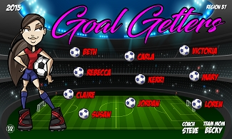 B2305 Goal Getters 3x5 Banner